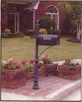 picture of ornamental iron custom steel mailboxes
