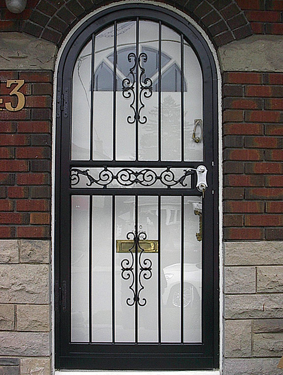 Charmant Arch Steel Storm Security Doors