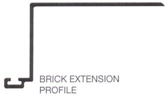 Brick Extension Aluminum Z-Bar Set