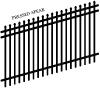 VERSAI EXTENDED PICKET IRON FENCE PANELS