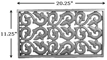 Cast Iron House Vent  1/4x3/4  flange